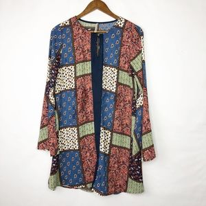 MITTOSHOP Patchwork Tunic with Bell Sleeves